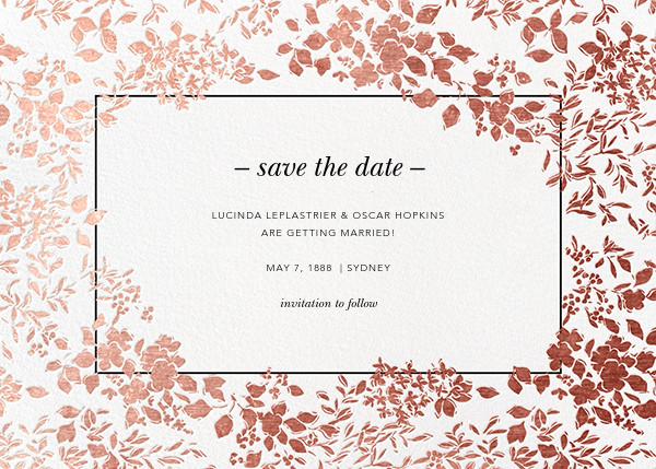 Richmond Park (Save the Date) - White/Rose Gold - Oscar de la Renta - Save the date