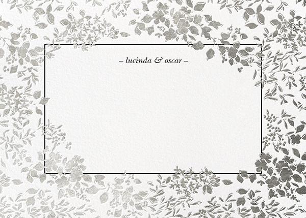 Richmond Park (Stationery) - White/Silver - Oscar de la Renta - Wedding