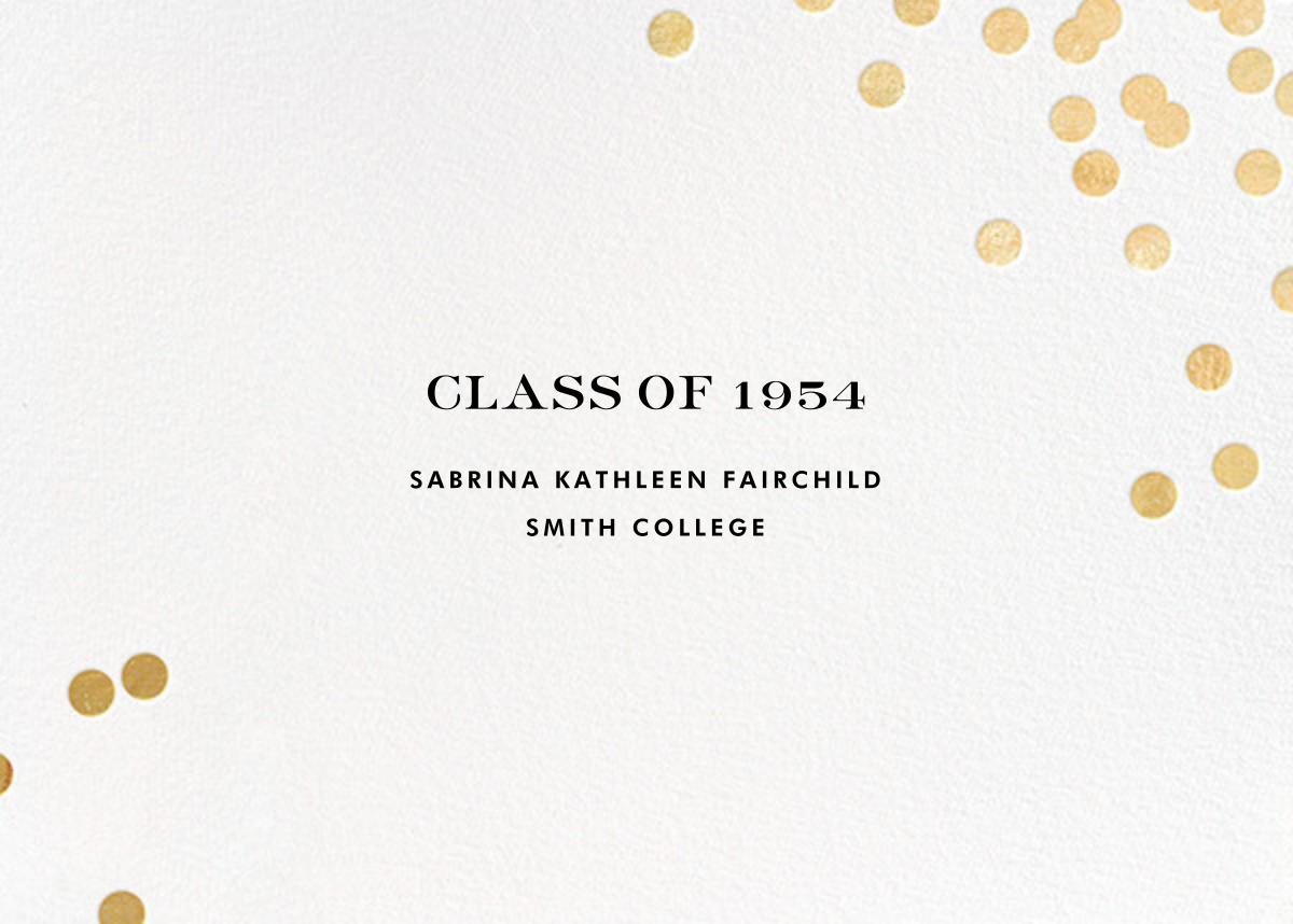 Confetti - White/Gold - kate spade new york - Graduation