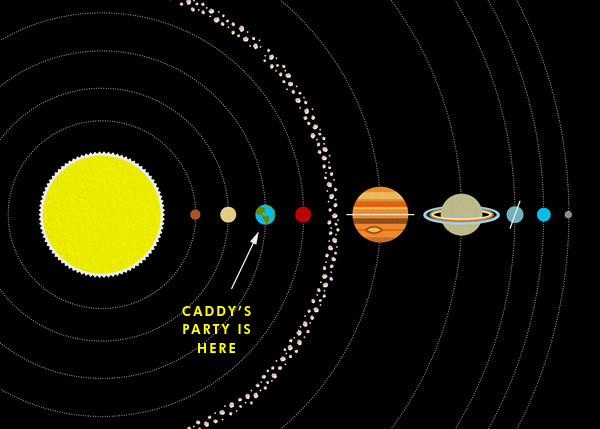 Solar System - Paperless Post - Adult birthday