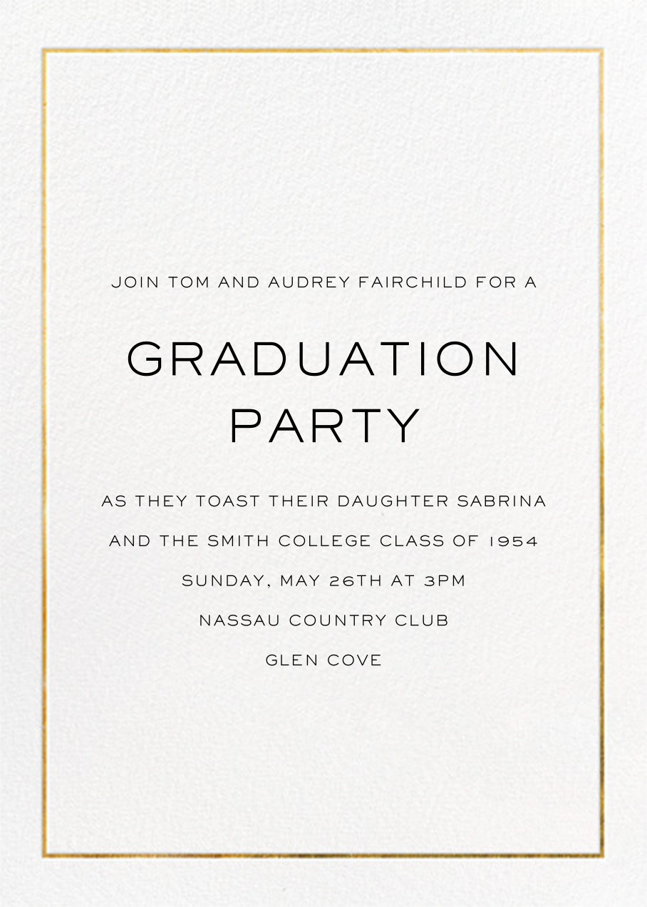 Deco Degree (Photo) - Paperless Post - Graduation party - card back