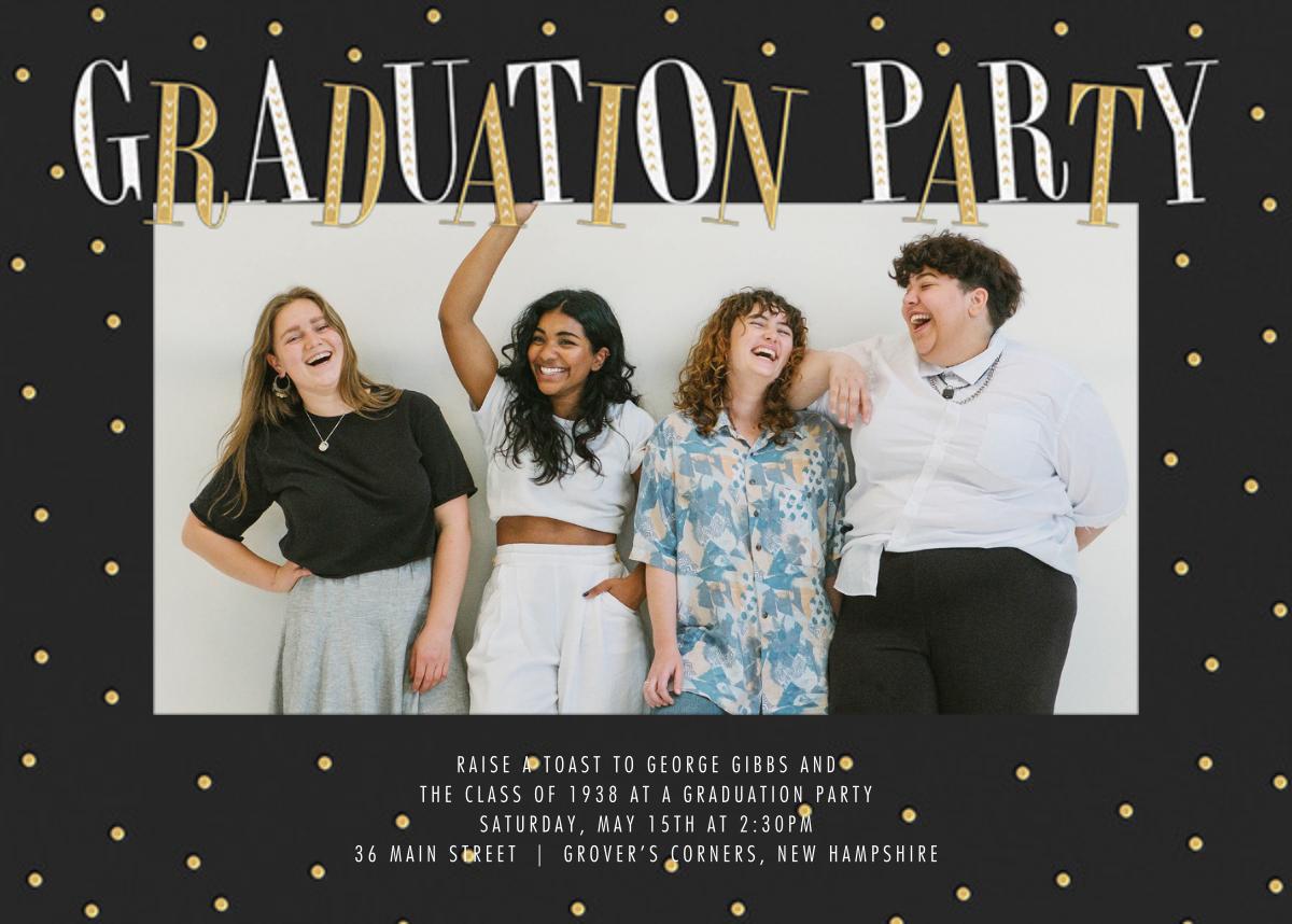 Glittering Grad (Photo) - Millet - Paperless Post - Graduation party