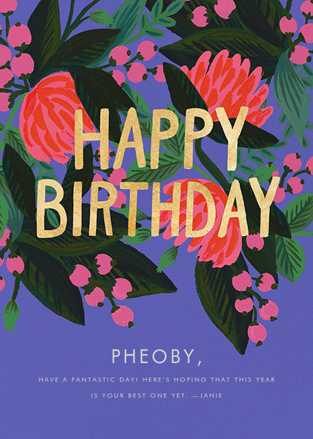 Floral Canopy - Rifle Paper Co. - Birthday