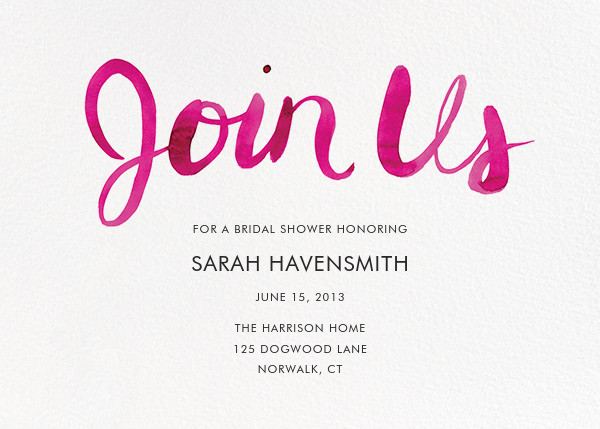 Join Us (Horizontal) - Pink - Linda and Harriett - Bridal shower