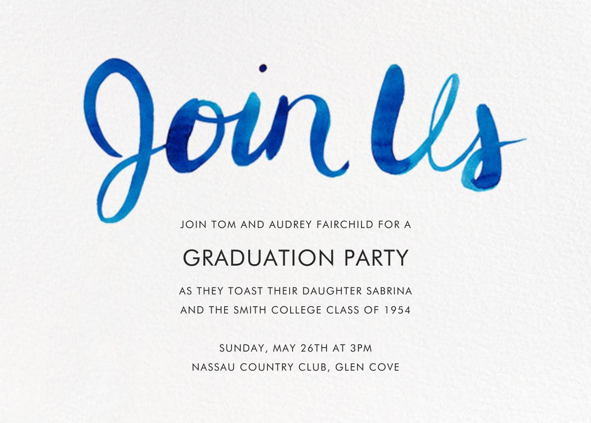 Join Us (Horizontal) - Blue - Linda and Harriett - Graduation party