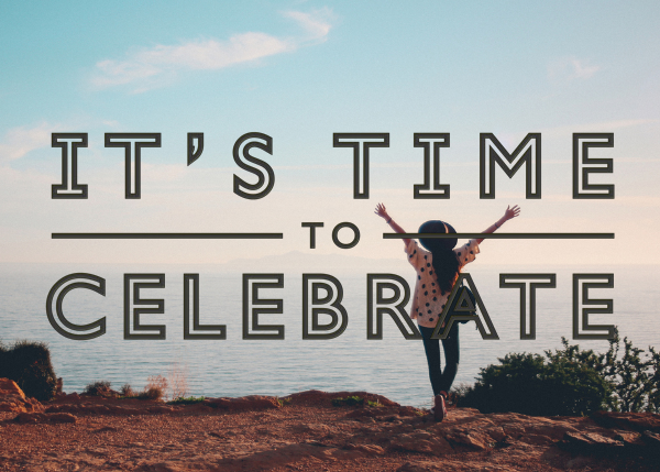 It's Time To Celebrate - Black - Paperless Post