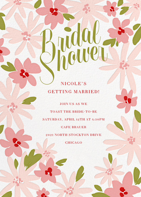 Brushstroke Blooms - Paperless Post - Bridal shower