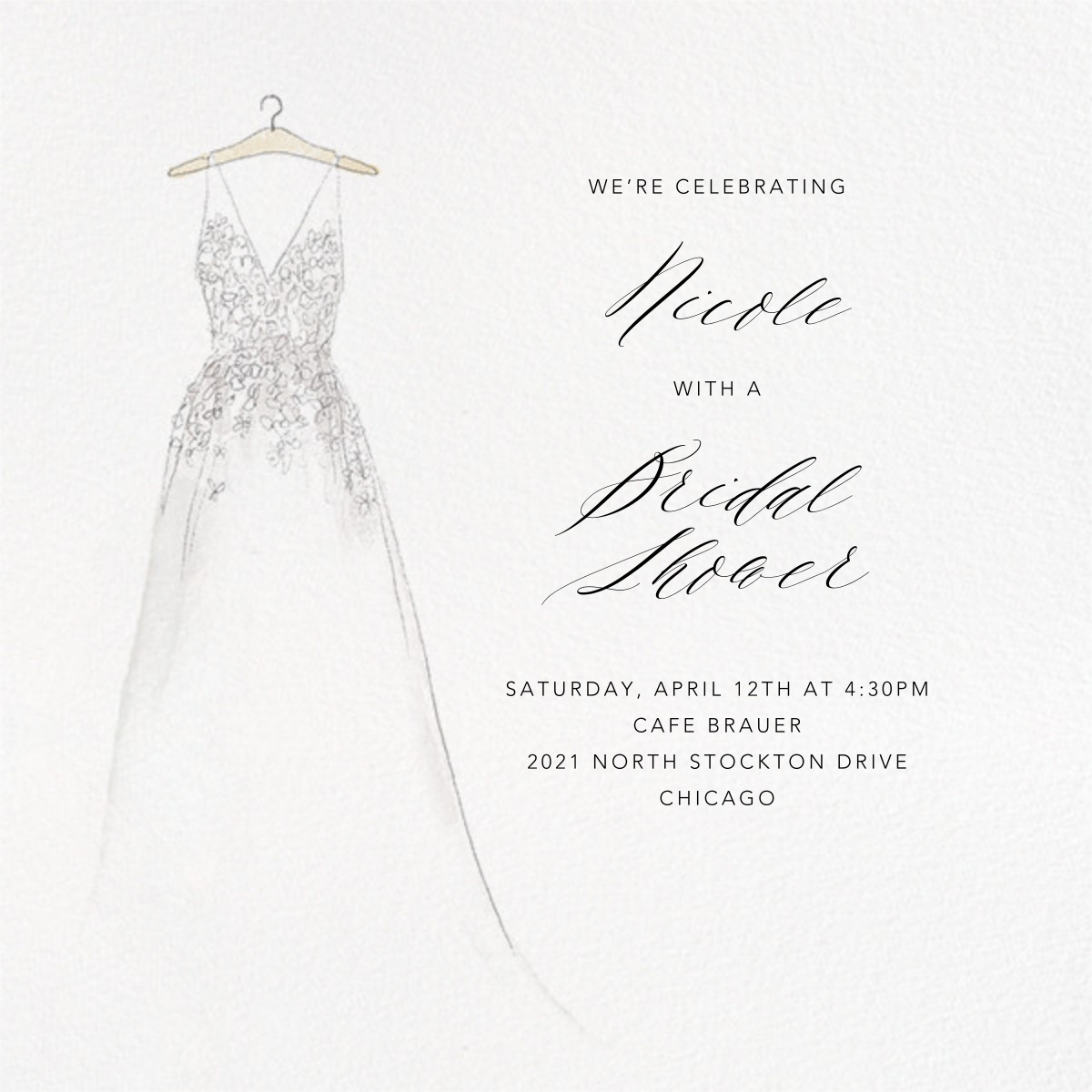 Off the Rack - Paperless Post - Bridal shower