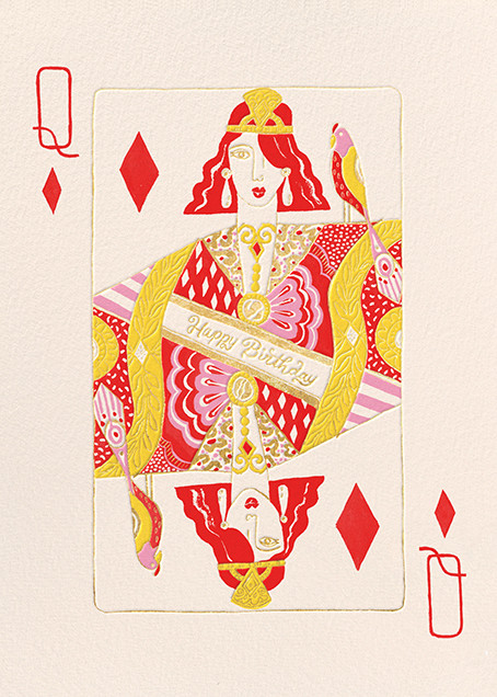 Queen of Diamonds (Danielle Kroll) - Red Cap Cards - Birthday