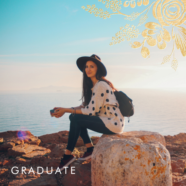 Heather and Lace (Photo) - Gold - Rifle Paper Co. - Graduation