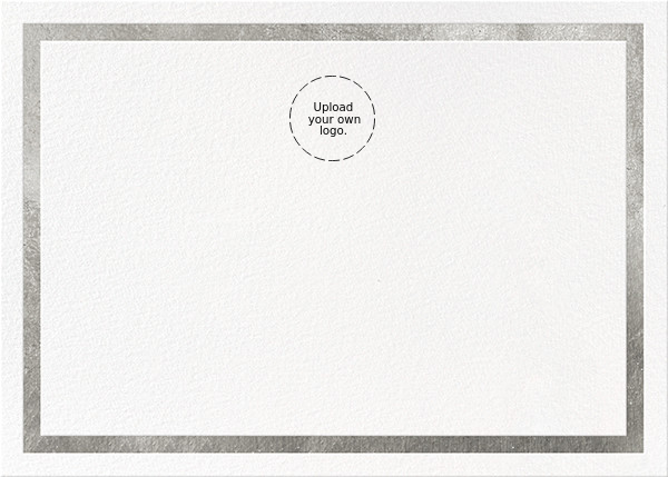 Foiled Frame (Stationery) - Silver - Paperless Post - Personalized stationery