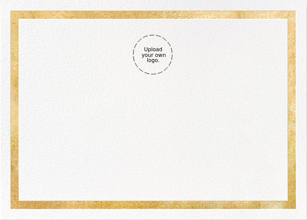 Foiled Frame (Stationery) - Gold - Paperless Post - Personalized stationery
