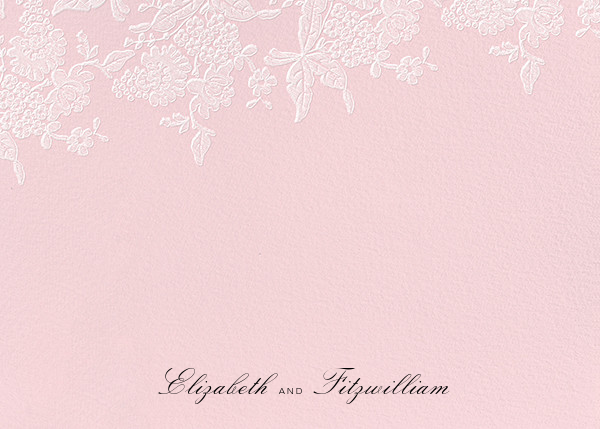 Hydrangea Lace I (Stationery) - Pink - Oscar de la Renta