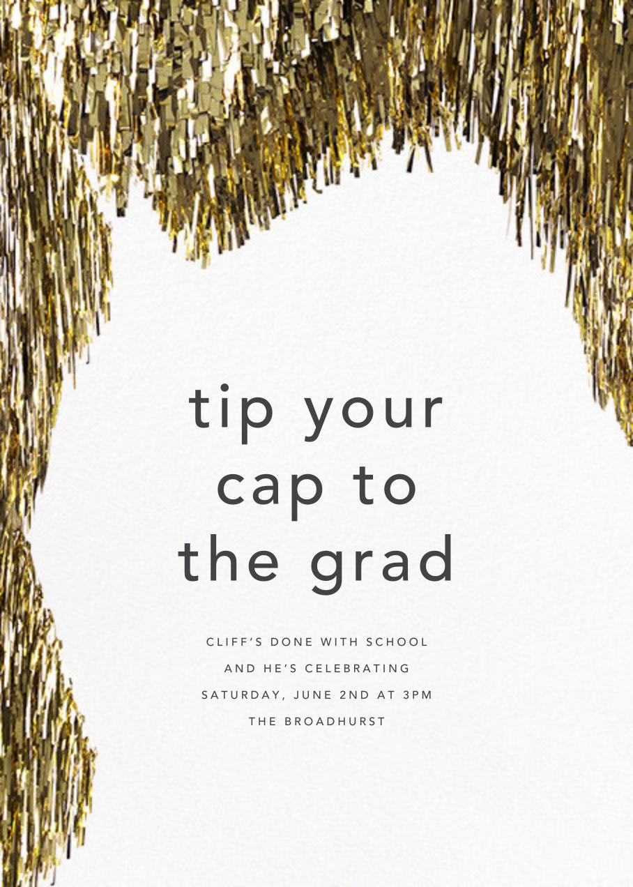Flash - Gold - CONFETTISYSTEM - Graduation party