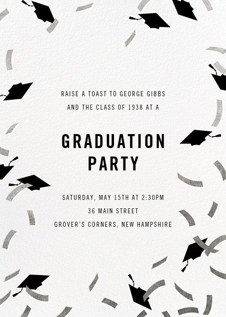 Confetti Caps - Silver - Paperless Post - Graduation party