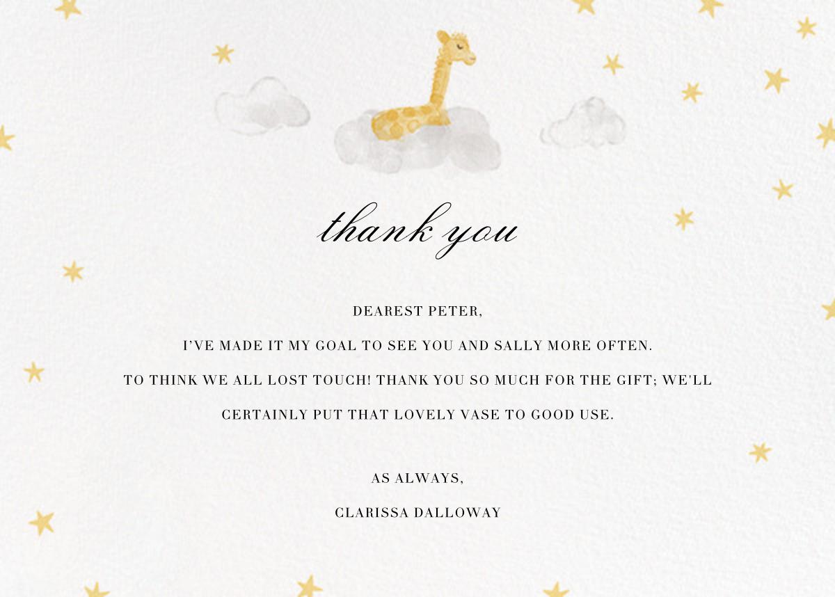 Starry Slumber (Stationery) - Giraffe - Paperless Post - Baby and kids'