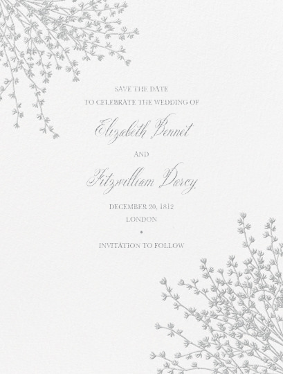 Forsythia (Save The Date) - Platinum - Crane & Co. - Save the date
