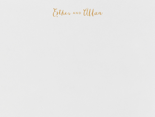 Miller (Thank You) - Medium Gold - Crane & Co. - Personalized stationery