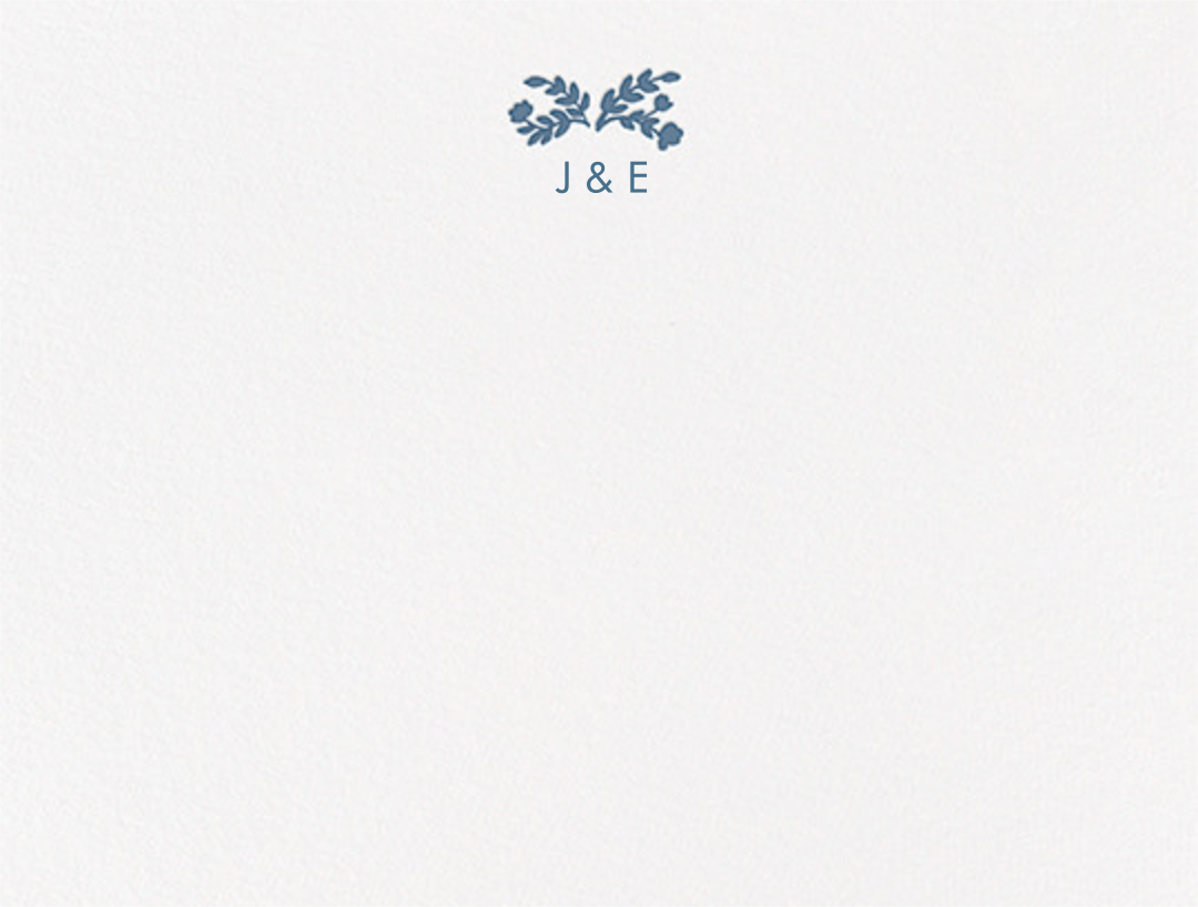 Anthea (Thank You) - French Blue - Crane & Co. - Personalized stationery