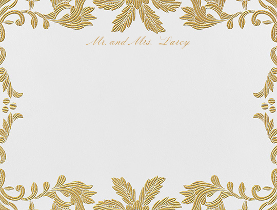 Leaf Lace II (Thank You) - Medium Gold - Oscar de la Renta - Personalized stationery