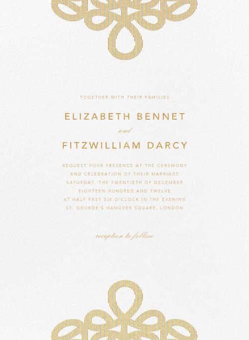Love Knots - Gold - Oscar de la Renta - Printable invitations