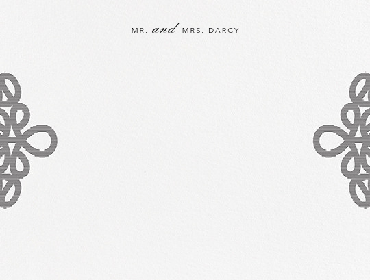 Love Knots (Thank You) - Black - Oscar de la Renta - Personalized stationery