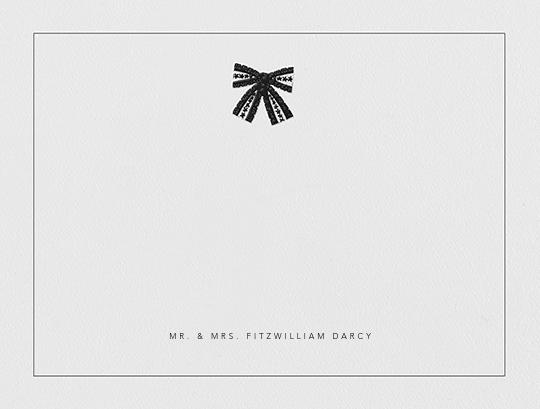 Tie the Knot (Stationery) - Black - Oscar de la Renta - Personalized stationery