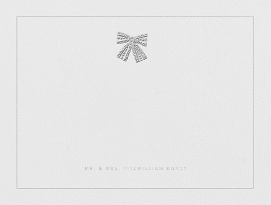 Tie the Knot (Stationery) - Platinum - Oscar de la Renta