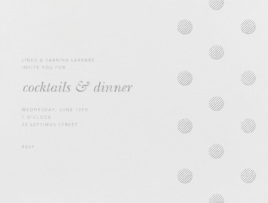 Polka Dot (Horizontal) - Platinum - Oscar de la Renta