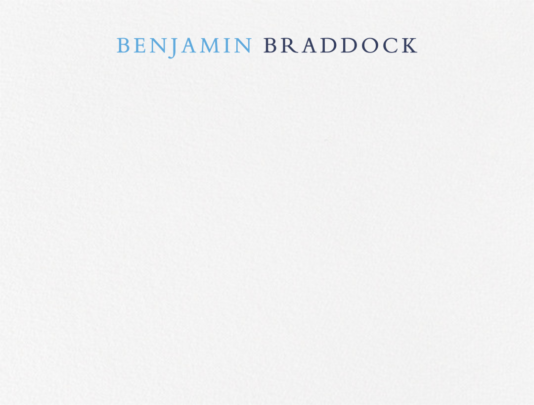 Pacific Palisades - Newport Blue - Paperless Post - Personalized stationery