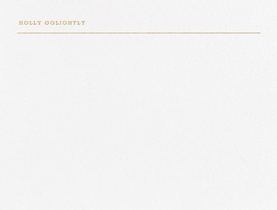 Bermondsey - Gold - Paperless Post