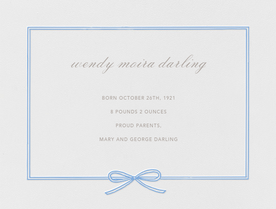 Amande - Newport Blue - Paperless Post - Birth