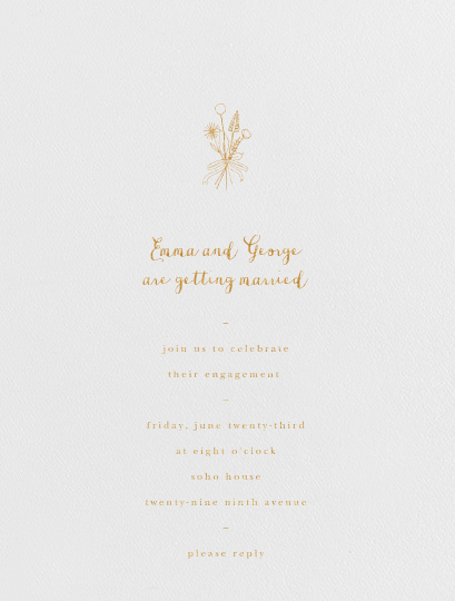 Antonia - Gold - Paperless Post - Engagement party