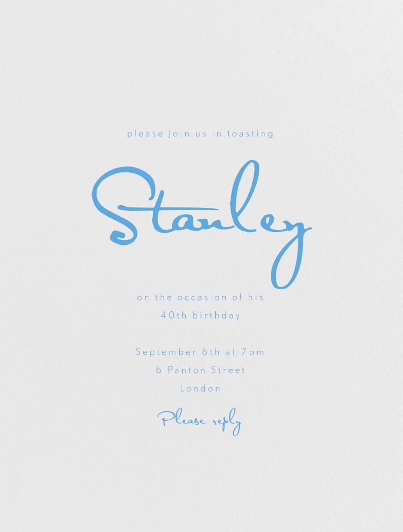June - Pearl White (Newport Blue) - Paperless Post - Adult birthday