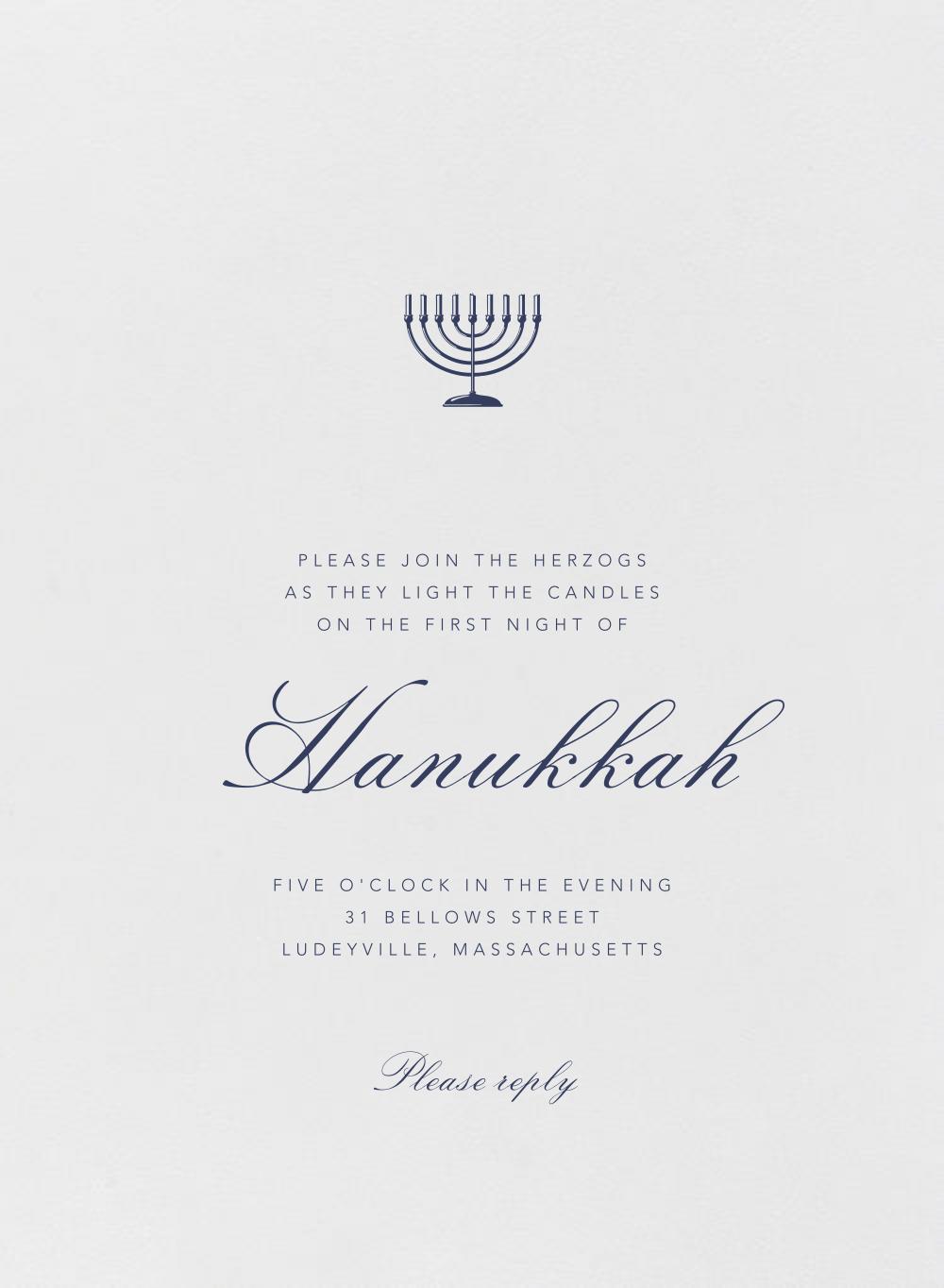 Tabernacle - Pearl White - Paperless Post - Hanukkah