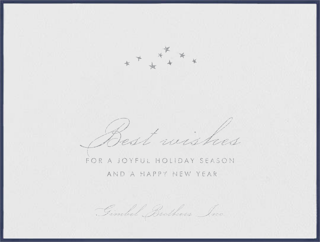 Galilei - Navy - Paperless Post - Business holiday cards