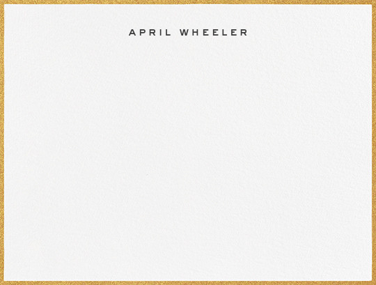 Gilded Edge - Gold - Paperless Post - Personalized stationery