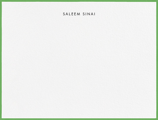 Painted Border - Spring Green - Paperless Post - Personalized stationery