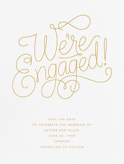 Bobbin I (Engagement) - Gold - Paperless Post - Holiday Favorites