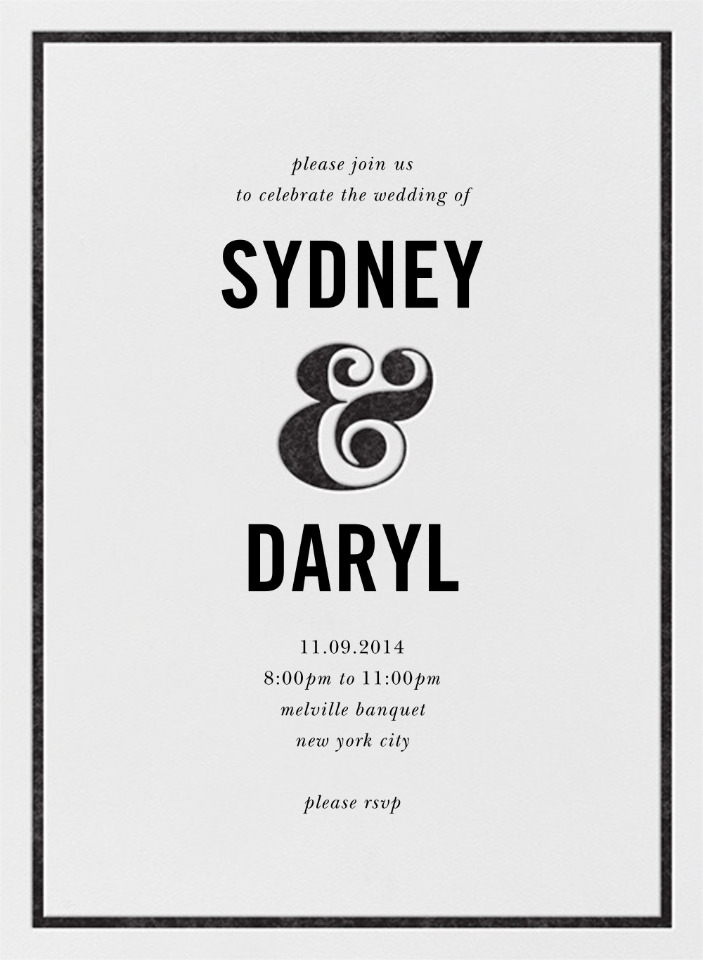 Ampersand (Invitation) - Black - kate spade new york - All