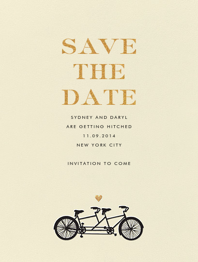 Tandem I (Save the Date) - kate spade new york - Gold and metallic