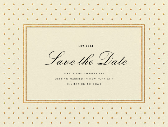 La Pavillion I (Save the Date) - Gold - kate spade new york - Party save the dates
