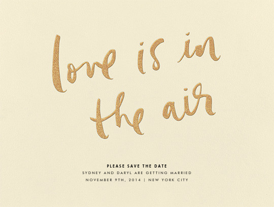 Love Is in the Air - kate spade new york - Save the date