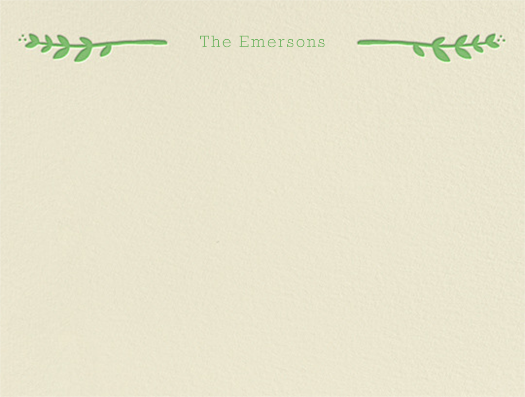 Louisa I (Thank You) - Spring Green - Paperless Post - Personalized stationery