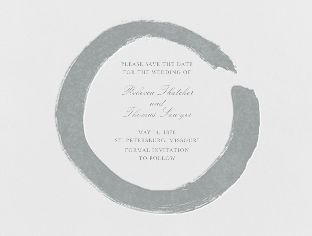 Gesso I (Save The Date) - Pewter Gray - Paperless Post - null