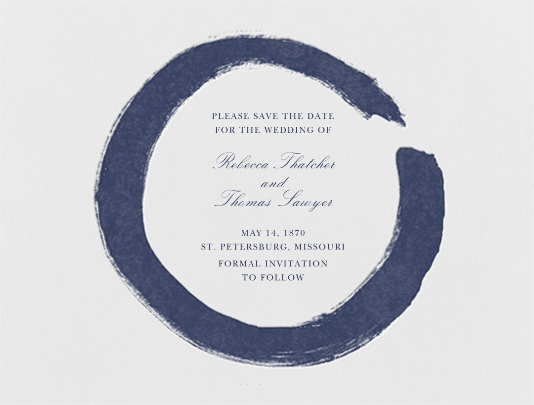 Gesso I (Save the Date) - Navy Blue - Paperless Post - null