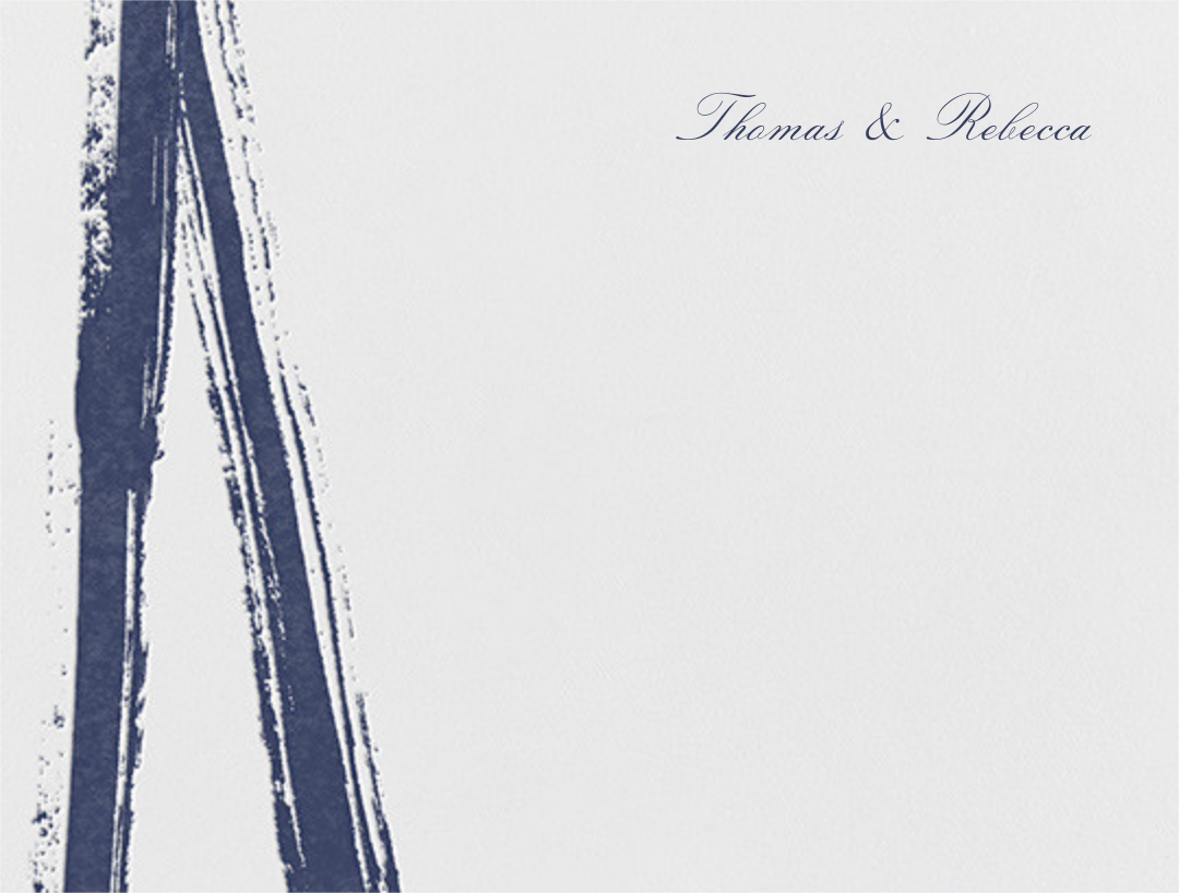 Gesso I (Thank You) - Navy Blue - Paperless Post - Wedding stationery