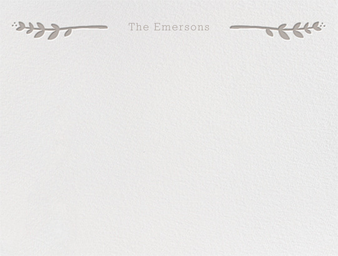 Louisa I (Thank You) - Taupe - Paperless Post - Personalized stationery