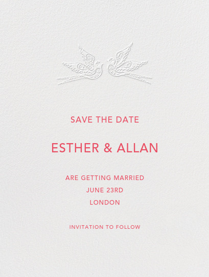 Marjorie I (Save the Date) - Blind Embossed - Paperless Post - null