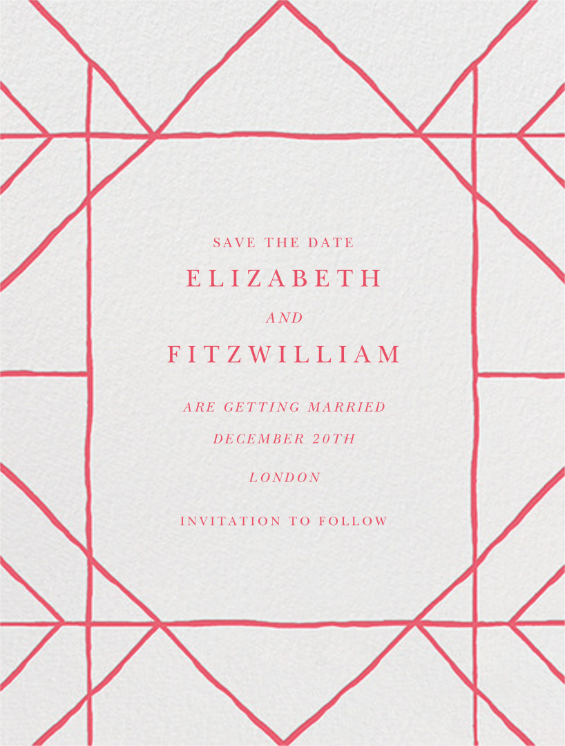 Tudor I (Save the Date) - Red - Paperless Post - null